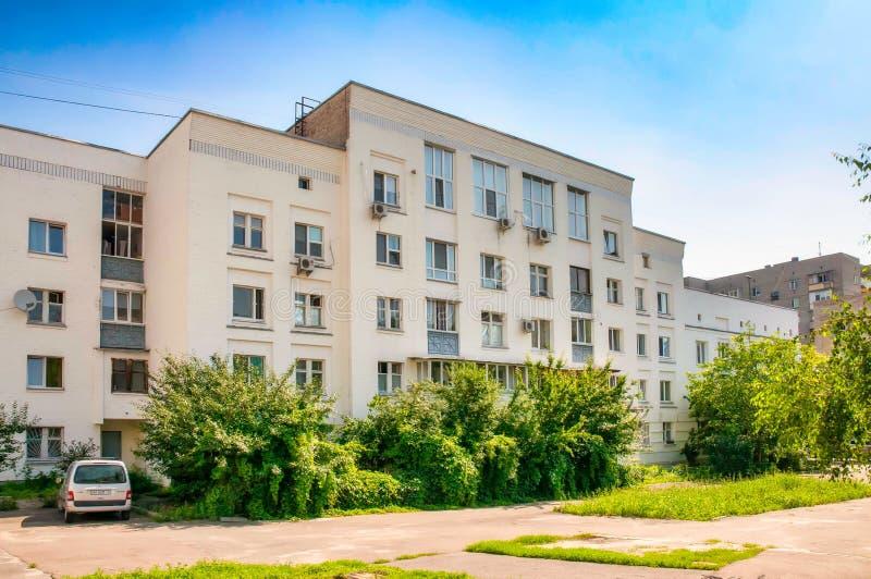 Casa típica no distrito de Podol de Kiev, Ucrânia fotos de stock royalty free