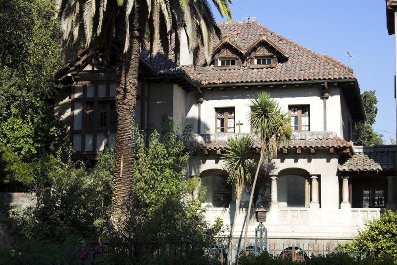 A casa típica Santiago faz o Chile imagens de stock