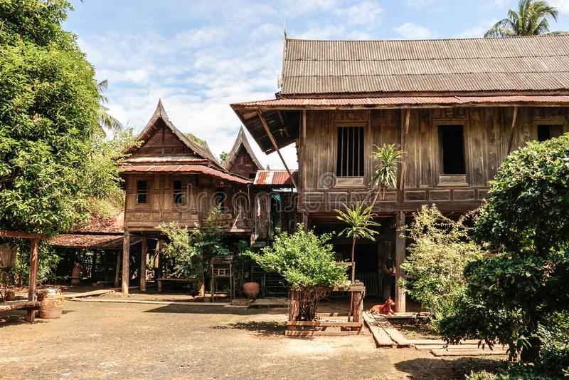 Casa tailandese del mazzo del ` s fotografia stock