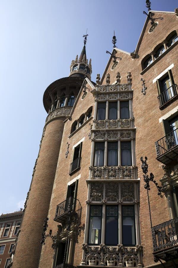 Casa Terrades, Barcelona Spain stock photos