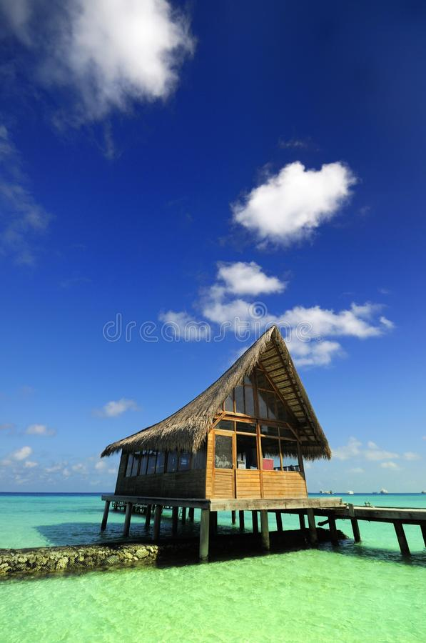 Casa Thatched imagens de stock royalty free