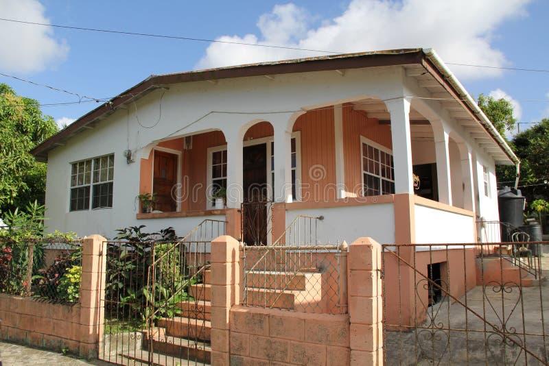 Casa tipica in Antigua Barbuda fotografia stock libera da diritti