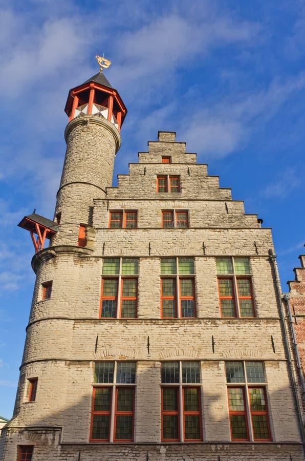 Casa Toreken (1450) del gremio de los curtidores Gante, Flandes Oriental, Belgiu fotos de archivo libres de regalías