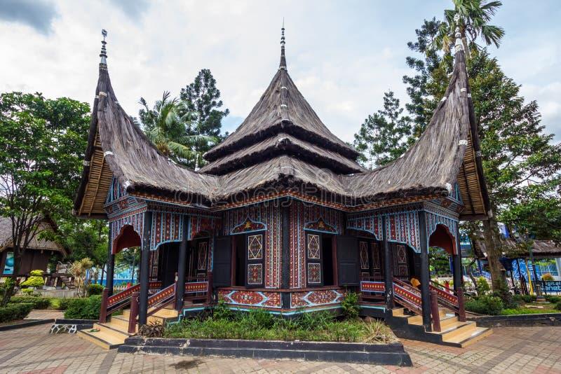 A casa tradicional de Indonésia, casa tradicional da réplica nós imagem de stock royalty free