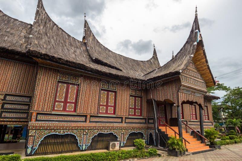 A casa tradicional de Indonésia, casa tradicional da réplica nós foto de stock royalty free