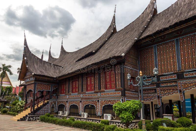 A casa tradicional de Indonésia, casa tradicional da réplica nós imagens de stock