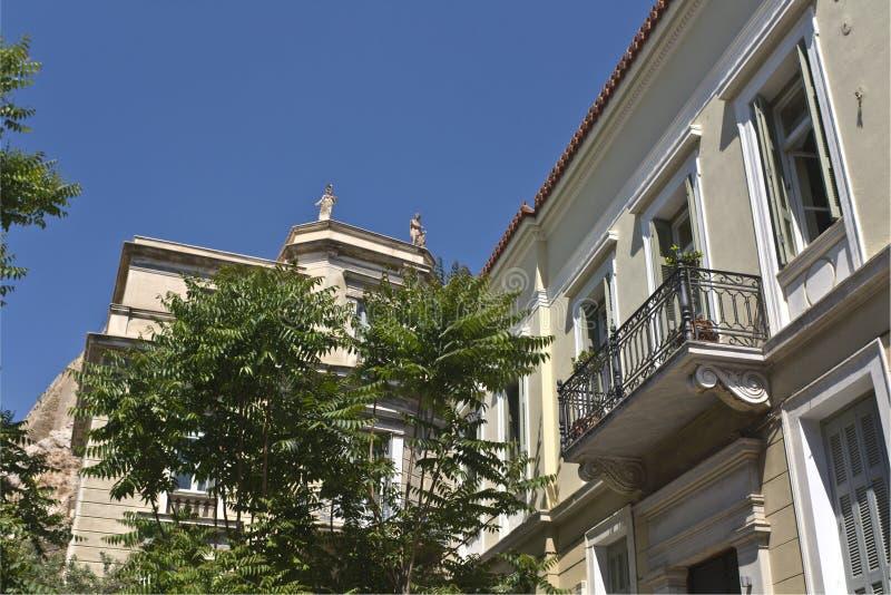 Casa tradicional em Atenas em Greece foto de stock