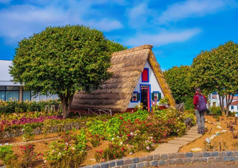 Casa tradicional em Santana, Madeira fotos de stock royalty free