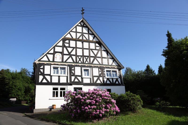 Casa tradicional en Alemania fotografía de archivo libre de regalías