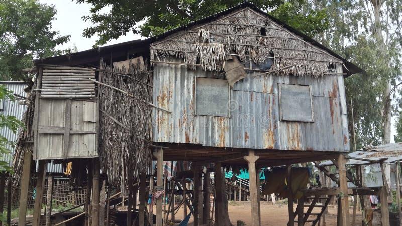 Casa tradicional en el pueblo del Cham - Chau doc. imágenes de archivo libres de regalías
