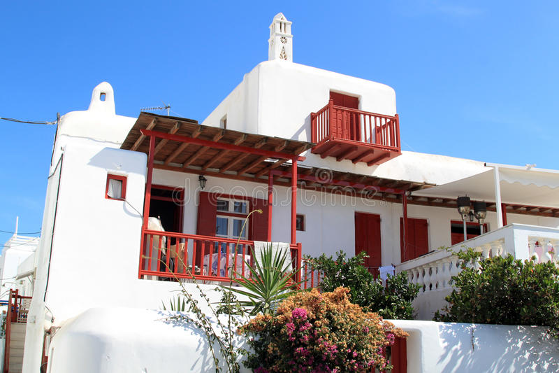 Casa tradicional en Grecia imagenes de archivo