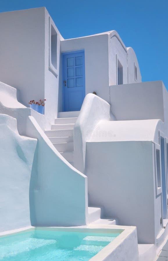 Casa tradicional en las islas Santorini Grecia de Oia fotografía de archivo