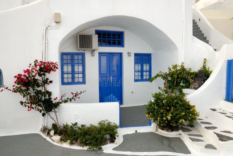 Casa tradicional en Santorini imagenes de archivo