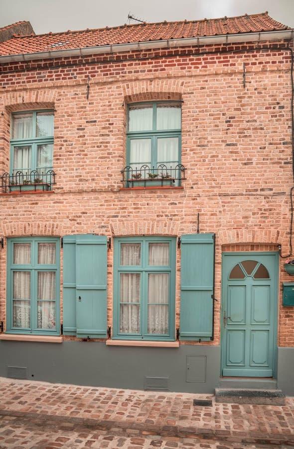 Casa tradicional francesa - sabor europeo foto de archivo