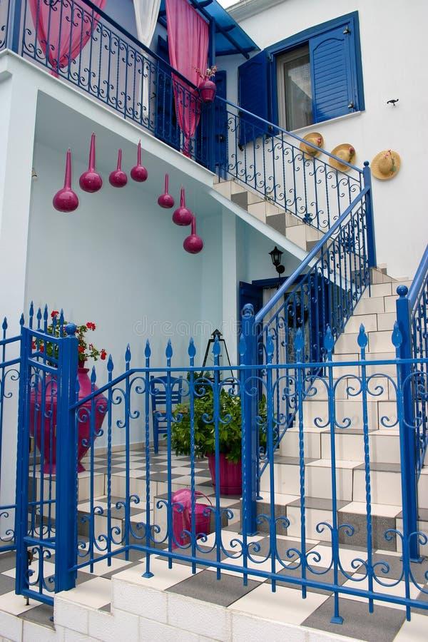 Casa tradicional grega imagens de stock