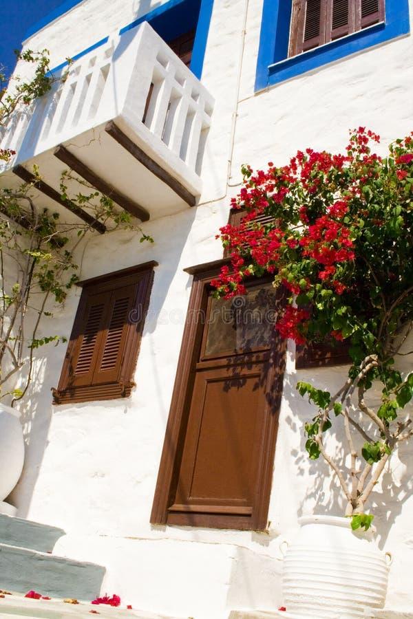 Casa tradicional grega foto de stock
