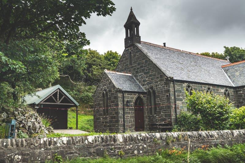 Casa tradicional irlandesa do tijolo Irlanda do Norte foto de stock