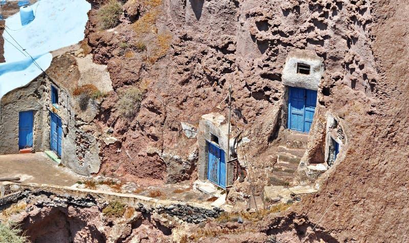 Casa tradicional vieja de Santorini imagen de archivo libre de regalías