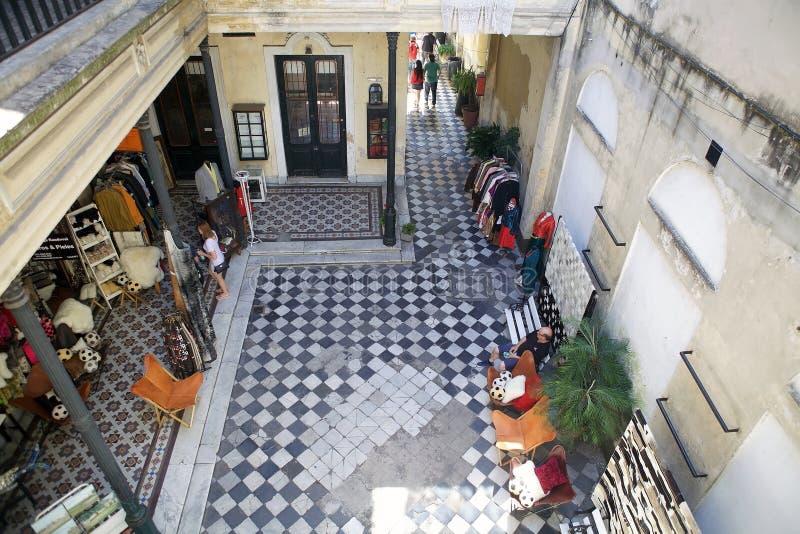 Casa tradicional vieja en San Telmo, Buenos Aires, la Argentina fotos de archivo