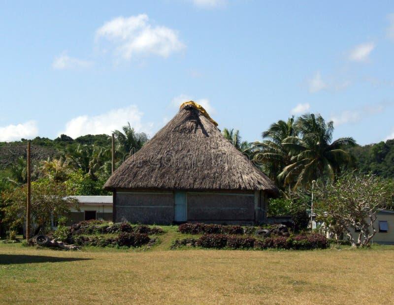 Casa tradizionale del Fijian immagine stock