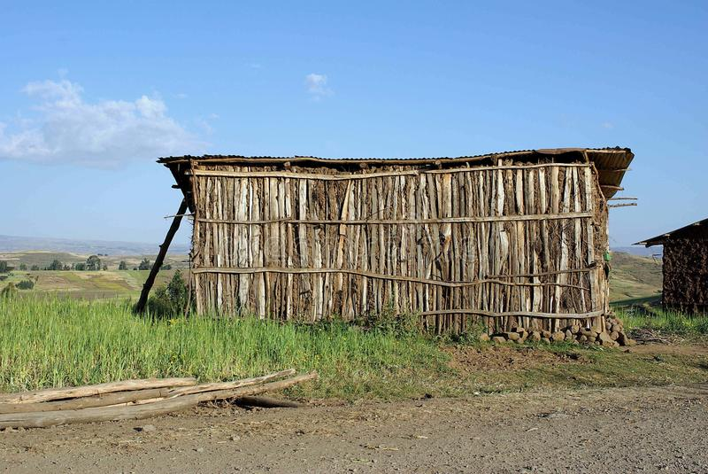 Casa tradizionale, Etiopia fotografie stock libere da diritti