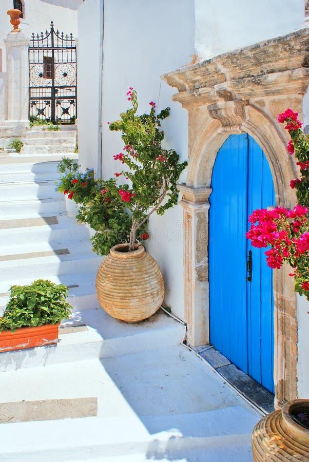 Casa tradizionale greca situata all'isola di Kithira immagine stock libera da diritti