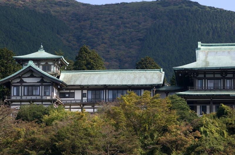 Casa tradizionale, Hakone, Giappone fotografie stock