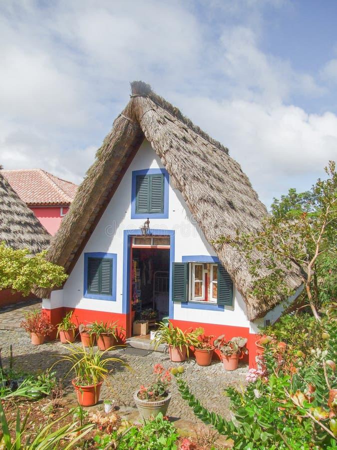 Casa tradizionale in Madera immagine stock libera da diritti