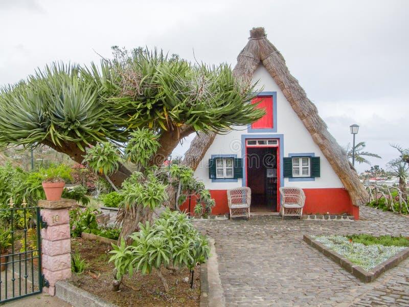 Casa tradizionale in Madera immagini stock