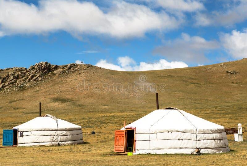 Casa tradizionale in Mongolia immagine stock libera da diritti