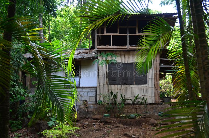Casa tradizionale nelle Filippine immagine stock