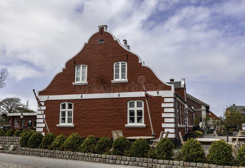 Casa tradizionale in Nordby sull'isola danese Fano immagini stock
