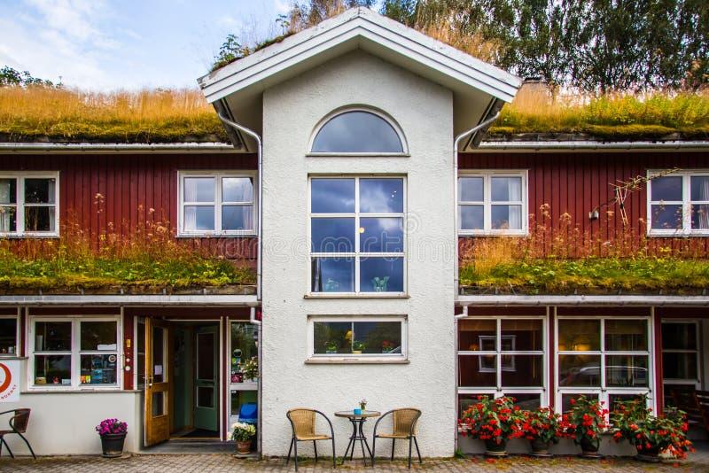Casa tradizionale in Norvegia fotografia stock