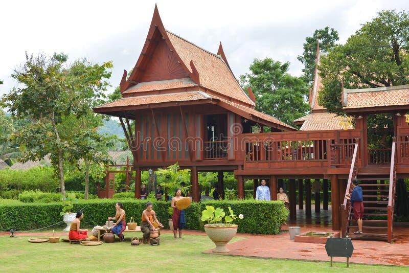 Casa tradizionale tailandese immagine stock libera da diritti