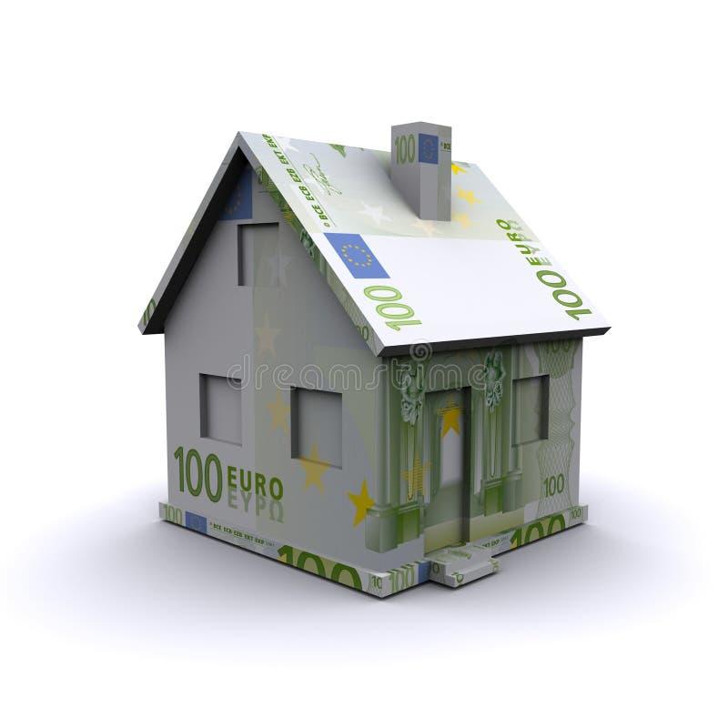 Casa tridimensional ilustração do vetor