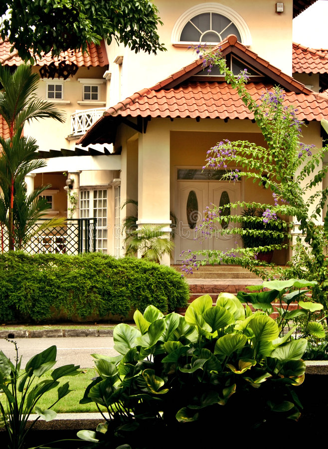 Casa tropicale immagine stock libera da diritti