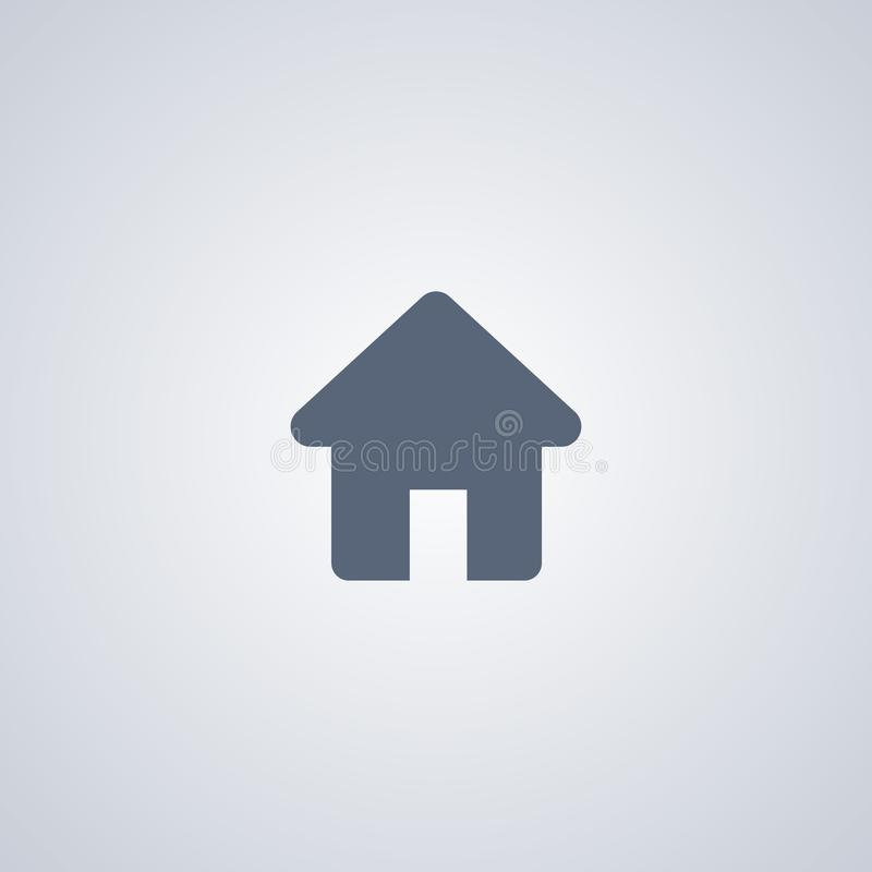 A casa, casa, vector o melhor ícone liso ilustração stock