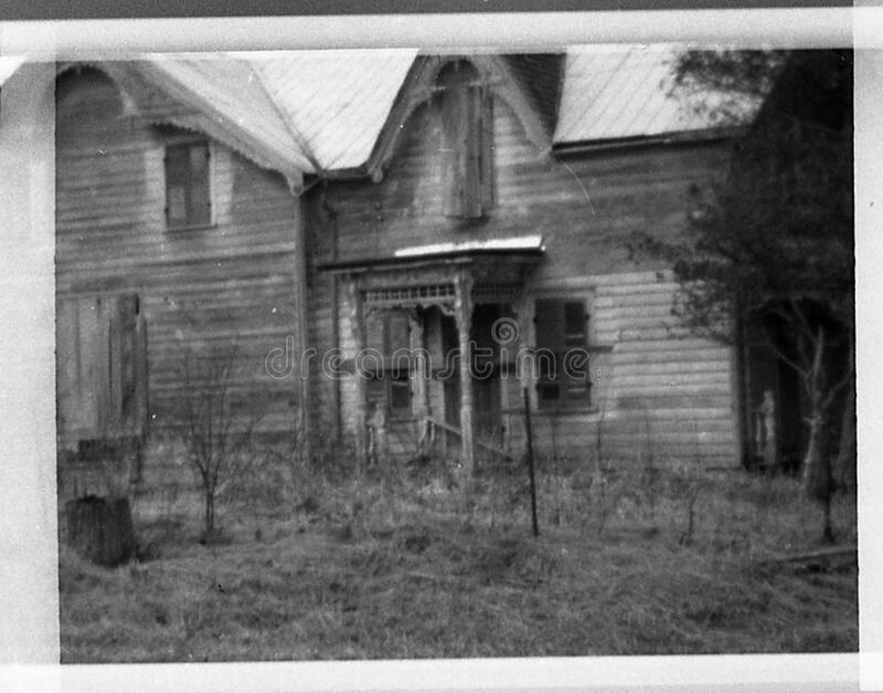 Casa velha, Belleville, 1970 foto de stock
