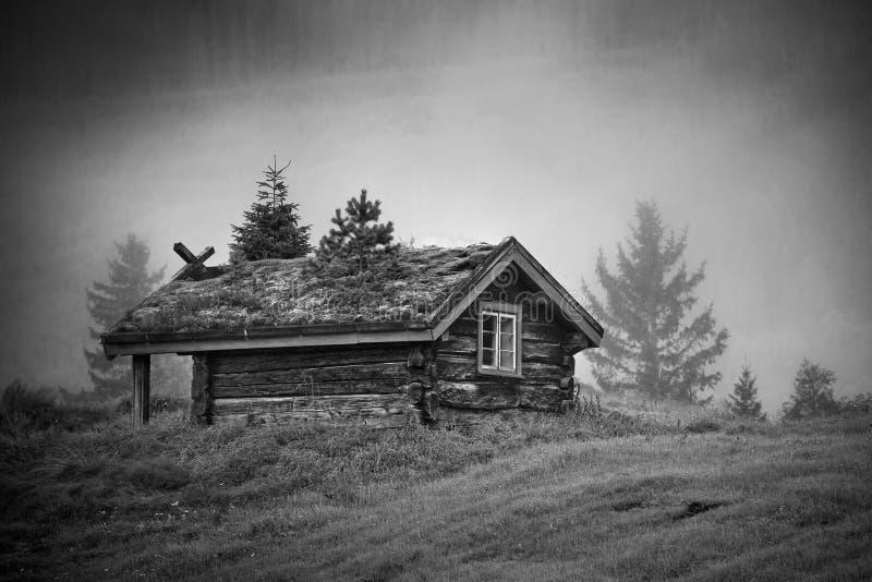 Casa velha de Noruega fotos de stock