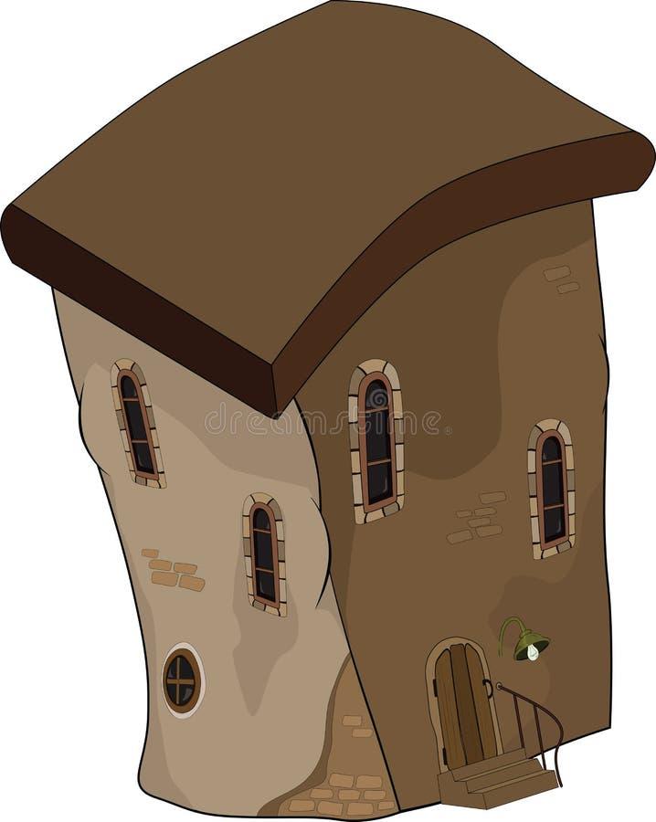 A casa velha de um conto de fadas. Desenhos animados ilustração do vetor