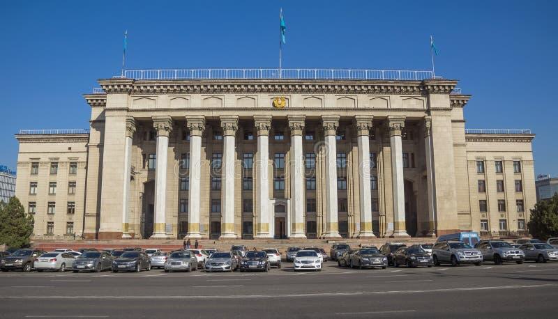 Casa velha do governo em Almaty imagens de stock royalty free
