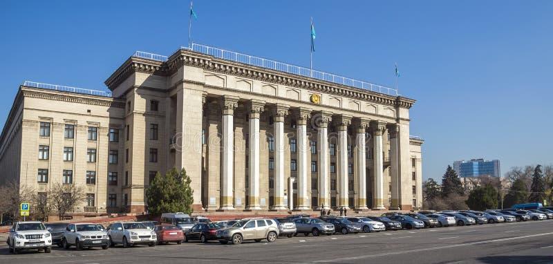 Casa velha do governo em Almaty fotografia de stock