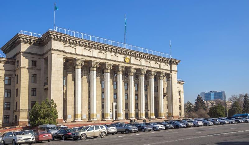 Casa velha do governo em Almaty imagem de stock