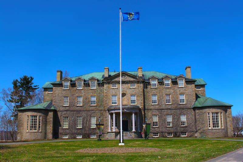 Casa velha do governo, Fredericton, Novo Brunswick, Canadá imagens de stock
