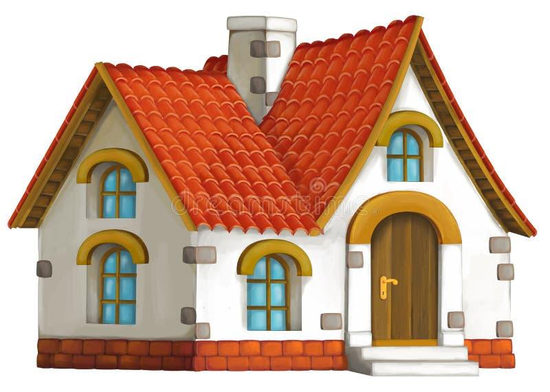 Casa velha dos desenhos animados ilustração royalty free