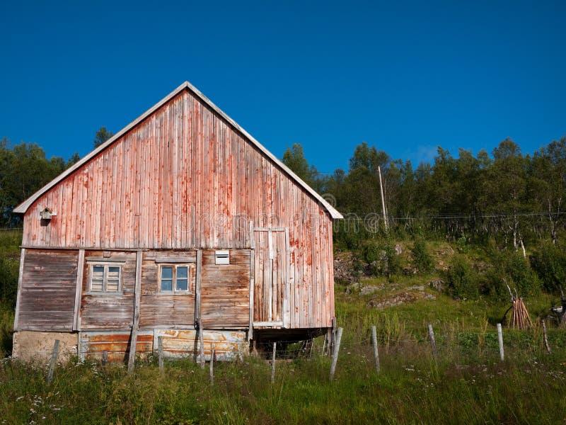 Casa velha em Noruega fotografia de stock