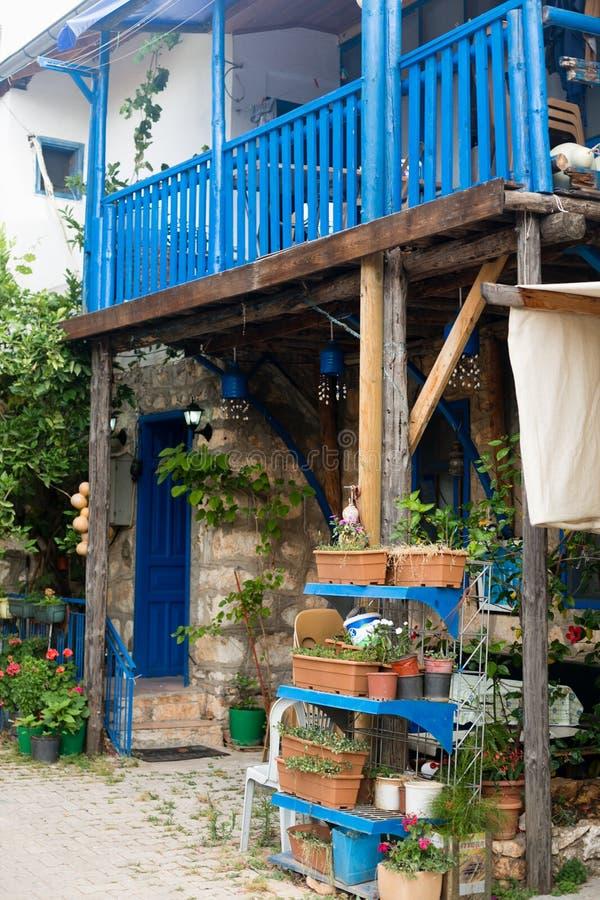 Casa velha na vila de Uchagiz de Antalya imagens de stock royalty free