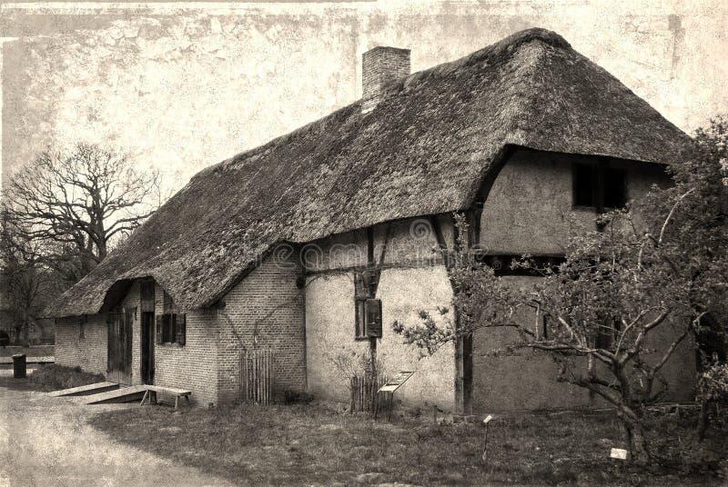 Casa velha no parque da herança fotos de stock royalty free