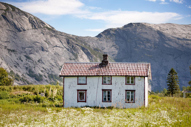 Casa velha Noruega imagens de stock royalty free