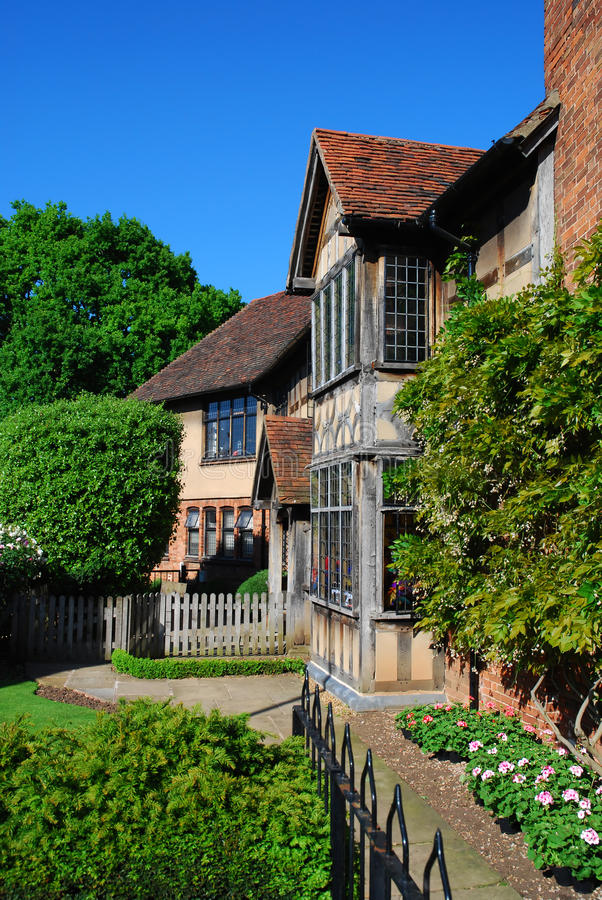Casa velha Stratford em cima de avon foto de stock